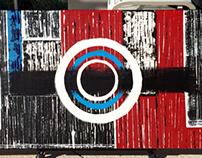 Original Abstract Acrylic Painting Title: City Life