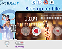 Step up for life audio recorder