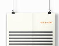 Minimalist Dieter Rams Poster