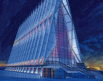 See America / USAF Cadet Chapel: Illustration