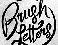 Brush Script Portfolio Headings