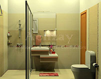 washroom design by aenzay - Wash Room Designs
