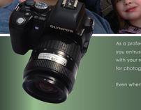 Camera ad for magazine
