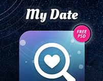 My Date Concept App & Free PSD Pack