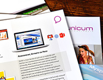 Unicum - corporate & discipline brochures