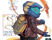 Sketchbook: Biker Backpacker