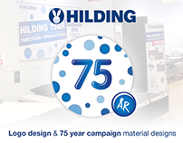 HILDING - 75 year campaign - Logo & Material Designs