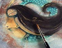 Sirena en tintas