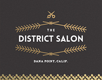 The District Salon Logo & Identity System