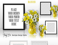 Styled Stock Photography - Daisies & Frame