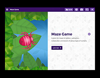 Discover Channel's Math UI: Maze Game