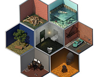 Isometric Rooms (CGI)