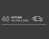 40 outline vector icons