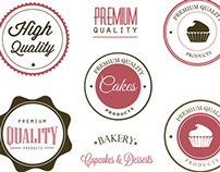 Bakery Label and Logo Vectors