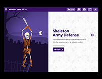 Discovery Channel's Math UI: Skeleton Army Defense