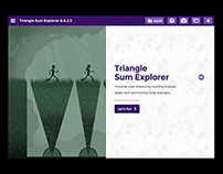 Discovery Channel's Math UI: Triangle Sum Explorer