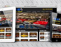 A&E Classic Cars web design