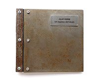 2kg Metal book - Julio Verne - Libro objeto
