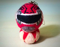 Felted Red Power Ranger