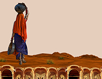 Digital designs based on theme Tharparker, Pakistan