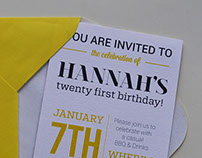21st Invitation