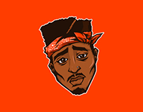 Tupac Adobe Ideas Ilustration