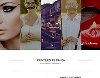 PictoFrame Website - One Page Layout (Romania 2014)