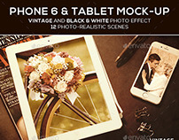 Phone 6 and Tablet Mock-up PSD