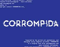 CORROMPIDA font