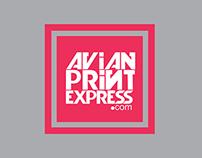 Avian Print Express Logo Identity