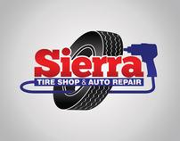 Sierra Tireshop Logo Design