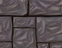 Hand-painted tilable texture