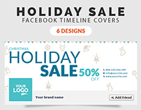 Christmas Holiday Sale Facebook Timeline Cover
