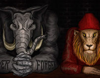 elphant & lion