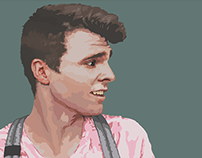 Portfolio of vector self-portrait