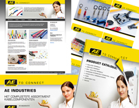 AE technologies website, catalogus en advertentie.