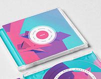 CD Layout - Magenta over Blue