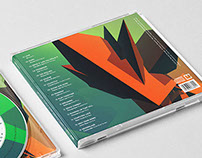 CD Layout - Orange over Green