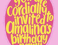 Amalina's Birthday Invitation Card