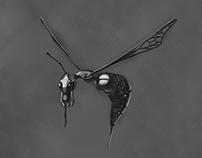 Alien Cyber-Wasp
