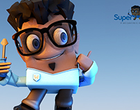 3D Mascot Design - SuperGeeks