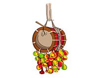 Kerala music istrument Idakka...
