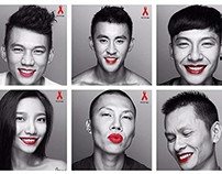 R.E.D Lips Campaign - World AIDS Day 2014