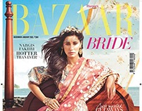Harpers Bazaar Bride cover+story dec.