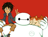 Big Hero 6/Baymax_Tribute Art_Japanese Version.