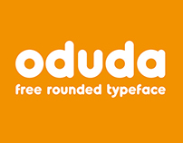Oduda - Rounded Typeface (Free Demo Version)
