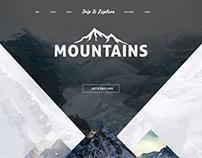 Explore Mountains Concept