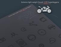 Extreme light weight Ducati 1199 Superleggera.