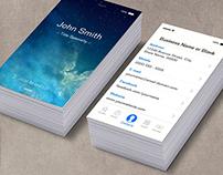 iOS 8 Business Card
