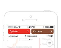 Yandex.Metro app redesign concept